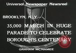 Image of Brooklyn Centenary celebration Brooklyn New York City USA, 1934, second 11 stock footage video 65675023139