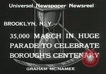 Image of Brooklyn Centenary celebration Brooklyn New York City USA, 1934, second 12 stock footage video 65675023139