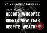 Image of New Year celebrations New York City USA, 1938, second 4 stock footage video 65675023165
