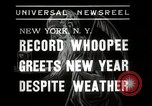 Image of New Year celebrations New York City USA, 1938, second 5 stock footage video 65675023165