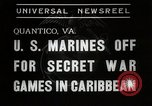 Image of United States Marines Quantico Virginia USA, 1938, second 4 stock footage video 65675023167