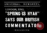 Image of Spring time London England United Kingdom, 1938, second 9 stock footage video 65675023175