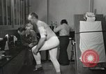 Image of NASA testing Hal Crandall for fitness Ohio United States USA, 1959, second 10 stock footage video 65675023415