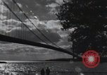 Image of Golden Gate Bridge construction San Francisco California USA, 1937, second 9 stock footage video 65675023499