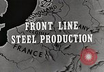 Image of Steel production Differdange Luxembourg, 1944, second 2 stock footage video 65675023524