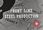 Image of Steel production Differdange Luxembourg, 1944, second 3 stock footage video 65675023524