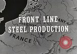 Image of Steel production Differdange Luxembourg, 1944, second 4 stock footage video 65675023524