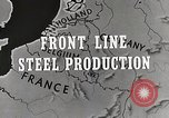 Image of Steel production Differdange Luxembourg, 1944, second 5 stock footage video 65675023524