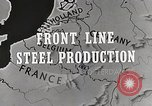 Image of Steel production Differdange Luxembourg, 1944, second 6 stock footage video 65675023524