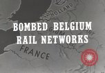 Image of bombed rail network Belgium Malines, 1944, second 2 stock footage video 65675023525