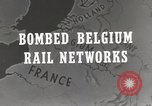 Image of bombed rail network Belgium Malines, 1944, second 3 stock footage video 65675023525