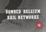 Image of bombed rail network Belgium Malines, 1944, second 4 stock footage video 65675023525
