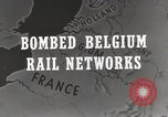 Image of bombed rail network Belgium Malines, 1944, second 5 stock footage video 65675023525