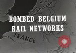 Image of bombed rail network Belgium Malines, 1944, second 6 stock footage video 65675023525