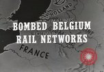 Image of bombed rail network Belgium Malines, 1944, second 7 stock footage video 65675023525
