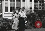 Image of Family watch aircraft United States USA, 1950, second 7 stock footage video 65675023560