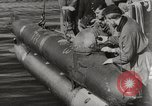 Image of German Neger one-man torpedo carrier craft Lubeck Germany, 1944, second 4 stock footage video 65675023573