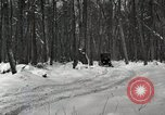 Image of Ford automobile with skis Michigan United States USA, 1918, second 8 stock footage video 65675023594
