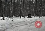 Image of Ford automobile with skis Michigan United States USA, 1918, second 9 stock footage video 65675023594