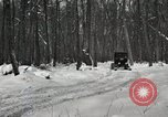 Image of Ford automobile with skis Michigan United States USA, 1918, second 11 stock footage video 65675023594