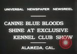 Image of Kennel club show Alameda California USA, 1931, second 9 stock footage video 65675023608