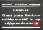 Image of Chinese protest against Japanese Chicago Illinois USA, 1931, second 1 stock footage video 65675023609