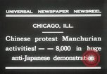 Image of Chinese protest against Japanese Chicago Illinois USA, 1931, second 3 stock footage video 65675023609