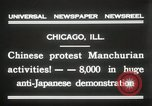 Image of Chinese protest against Japanese Chicago Illinois USA, 1931, second 4 stock footage video 65675023609