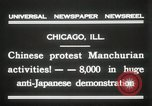 Image of Chinese protest against Japanese Chicago Illinois USA, 1931, second 6 stock footage video 65675023609