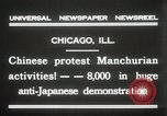 Image of Chinese protest against Japanese Chicago Illinois USA, 1931, second 9 stock footage video 65675023609