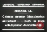 Image of Chinese protest against Japanese Chicago Illinois USA, 1931, second 11 stock footage video 65675023609
