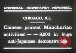 Image of Chinese protest against Japanese Chicago Illinois USA, 1931, second 12 stock footage video 65675023609