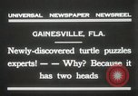 Image of Two headed turtle Gainesville Florida USA, 1931, second 3 stock footage video 65675023611