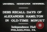 Image of celebration at Independence Hall Philadelphia Pennsylvania USA, 1931, second 8 stock footage video 65675023614