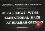 Image of opening of Hialeah racecourse Florida United States USA, 1931, second 1 stock footage video 65675023617
