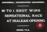 Image of opening of Hialeah racecourse Florida United States USA, 1931, second 2 stock footage video 65675023617