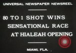 Image of opening of Hialeah racecourse Florida United States USA, 1931, second 3 stock footage video 65675023617