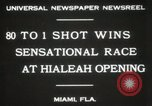 Image of opening of Hialeah racecourse Florida United States USA, 1931, second 4 stock footage video 65675023617