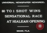 Image of opening of Hialeah racecourse Florida United States USA, 1931, second 5 stock footage video 65675023617