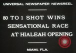 Image of opening of Hialeah racecourse Florida United States USA, 1931, second 6 stock footage video 65675023617