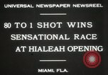 Image of opening of Hialeah racecourse Florida United States USA, 1931, second 8 stock footage video 65675023617