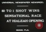 Image of opening of Hialeah racecourse Florida United States USA, 1931, second 9 stock footage video 65675023617