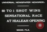 Image of opening of Hialeah racecourse Florida United States USA, 1931, second 10 stock footage video 65675023617