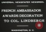 Image of award to Colonel Lindbergh Washington DC USA, 1931, second 2 stock footage video 65675023618