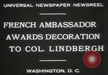 Image of award to Colonel Lindbergh Washington DC USA, 1931, second 3 stock footage video 65675023618