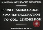 Image of award to Colonel Lindbergh Washington DC USA, 1931, second 4 stock footage video 65675023618