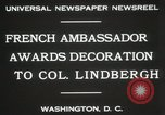Image of award to Colonel Lindbergh Washington DC USA, 1931, second 5 stock footage video 65675023618