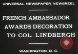 Image of award to Colonel Lindbergh Washington DC USA, 1931, second 6 stock footage video 65675023618