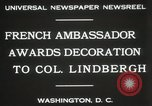 Image of award to Colonel Lindbergh Washington DC USA, 1931, second 9 stock footage video 65675023618