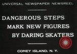 Image of figure skating at Coney Island New York United States USA, 1931, second 1 stock footage video 65675023619